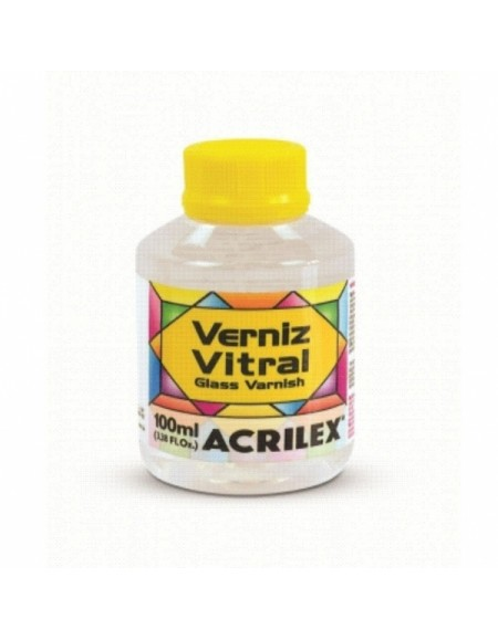 Verniz Vitral Acrilex 100ml Incolor/Clareador
