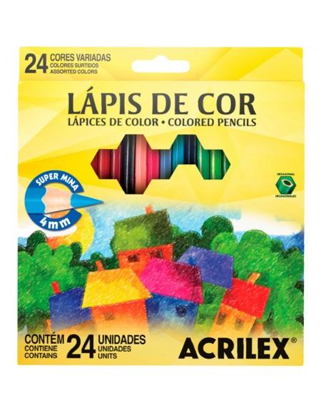 Lápis de Cor Acrilex 24 Cores