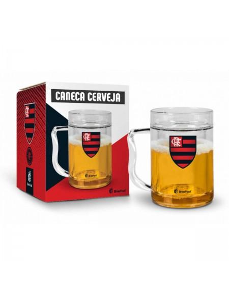 Caneca Brasfoot Cerveja Gel 200ML - Flamengo