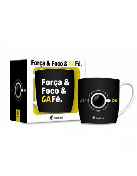 Caneca Brasfoot Porcelana Urban 360Ml - Foco Forca E Cafe