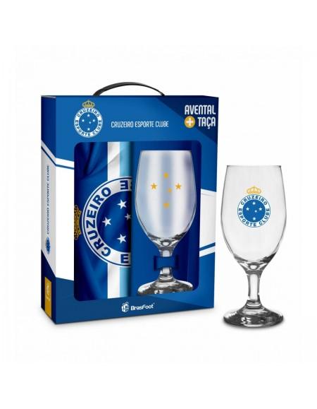 Taça E Avental Brasfoot 330ml - Cruzeiro