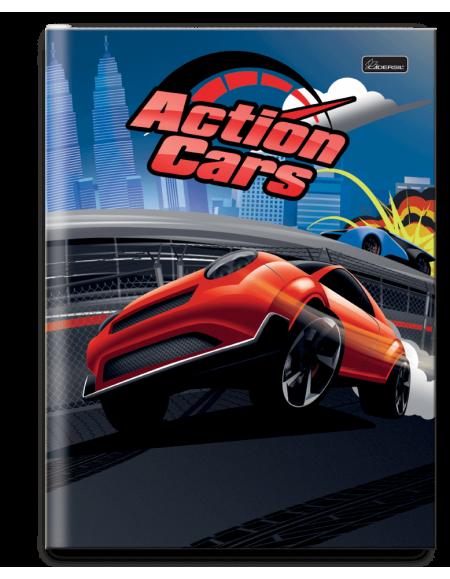 Caderno Cadersil Capa Dura Brochurão 1x1 96 fls Action Car
