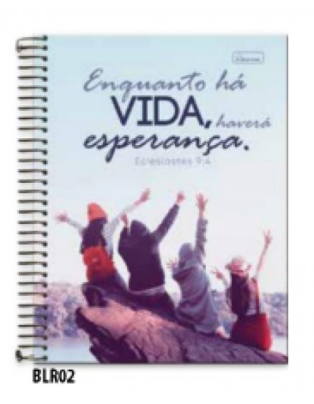 Caderno Cadersil Capa Dura Universitario 15X1 300FLS Bliss Religioso