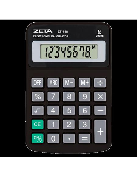 Calculadora Zeta de mesa 8 Digitos ZT718