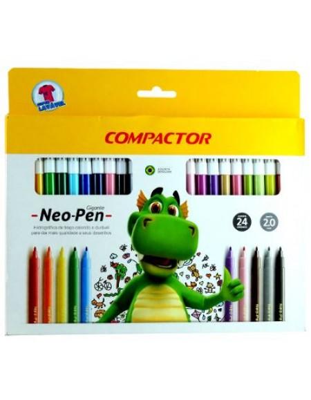 Canetinha Compactor Neo-Pen Gigante 24 Cores