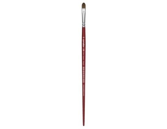 Pincel Condor Artistico Vermelho Pelo Sintético 286 Nº 08