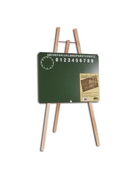 Quadro Cortearte Lousa Verde Tripe Infantil Madeira ABC 30cmx40cmx100cm