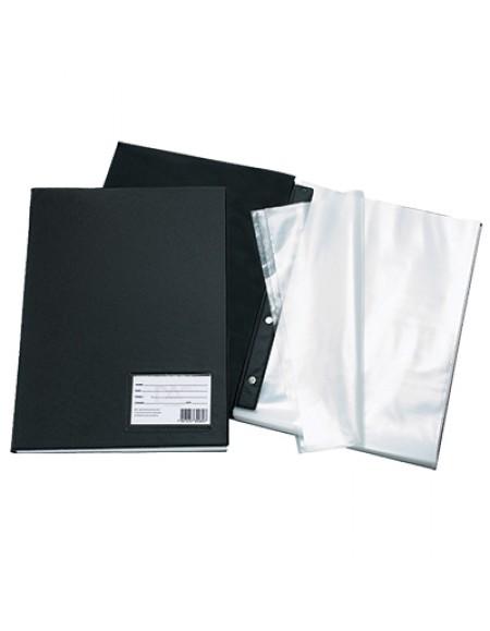 Pasta Catálogo Ofício com 10 Envelopes Finos Preta Com Visor - Dac