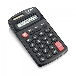 Calculadora Eletrônica de Mesa Elgin Preta 8 Dígitos CB 1483