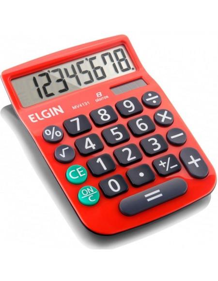Calculadora de Mesa Elgin Vermelha 8 Dígitos MV 4131