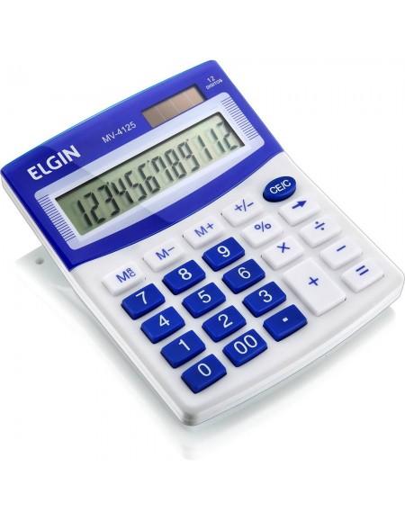 Calculadora de Mesa Elgin Azul 12 Dígitos MV 4125