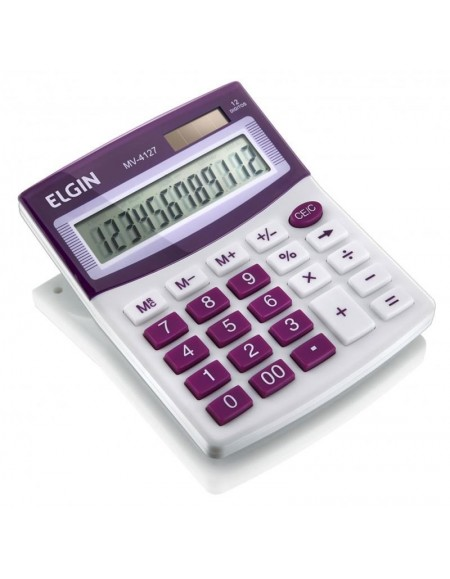 Calculadora de Mesa Elgin Roxa 12 Dígitos MV 4127