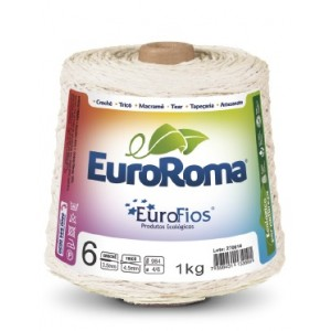 Barbante Eurofios Colorido N° 6  1KG 1016m CRU