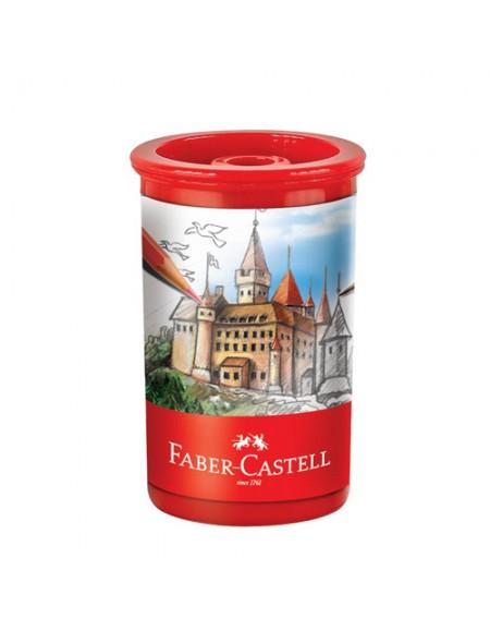 Apontador Faber-Castell Substituível Tubo Cavaleiros C/Depósito