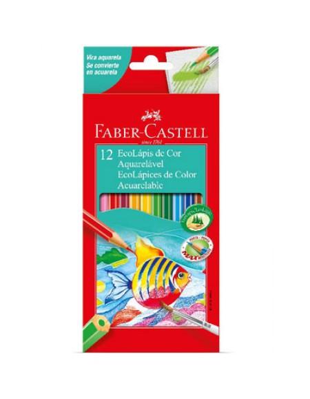 Lápis de Cor Faber-Castell Ecolápis 12 Cores Aquarelável