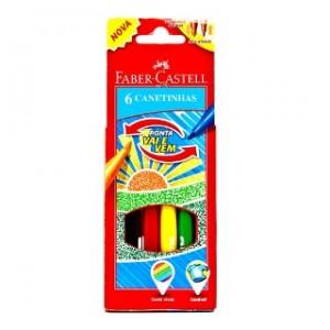 Canetinha Faber-Castell Vai e Vem 6 Cores
