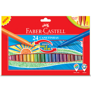 Canetinha Faber Castell Vai e Vem 24 Cores