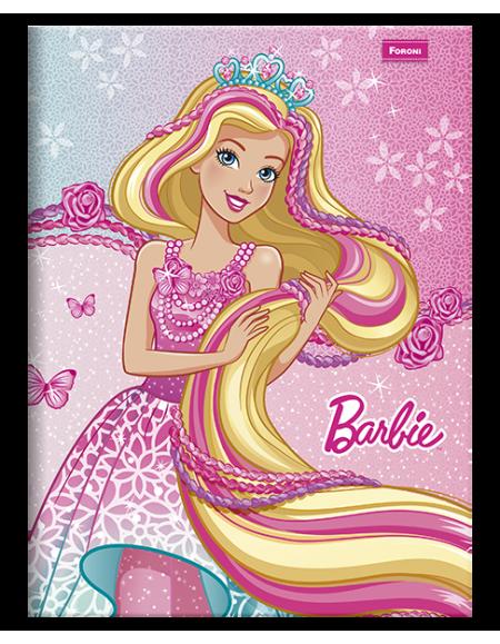 Caderno Foroni Brochurão Capa Dura 48fls Barbie