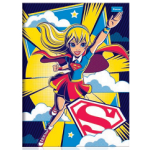 Caderno Foroni DC Super Hero Girls Universitário Brochura 1x1 Capa Dura 96fls