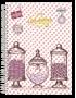 Caderno Kajoma Vintage Universitário Arame 10x1 Capa Dura 200fls