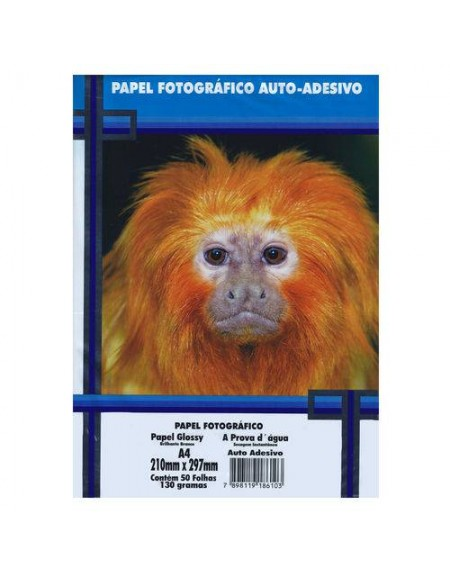 Papel Fotográfico Adesivo A4 MasterPrint 130g pct c/50fls