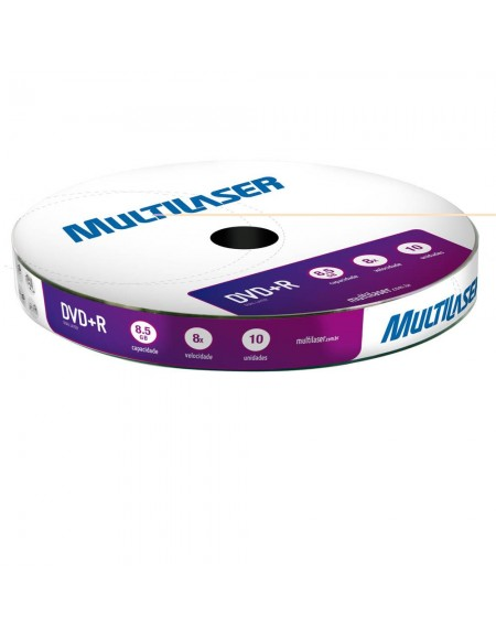 DVD-RW Multilaser 4.7GB 4x Shrink com 10 Unidades