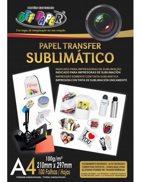 Papel Off Paper Sublimático A4 100G PCT C/100