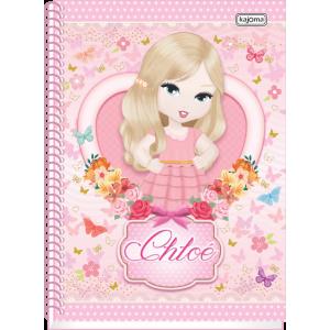 Caderno Kajoma Chloe Universitário Arame 10x1 Capa Dura 200fls