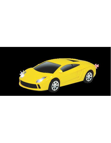 Carro Famoso com Fricção e Luz Amarelo