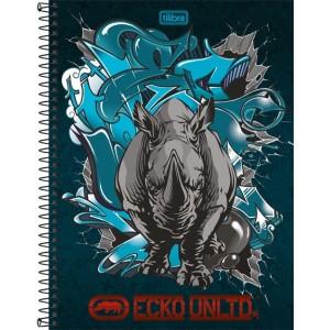 Caderno Tilibra Ecko Universitário Arame 10x1 Capa Dura 200fls