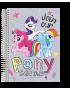 Caderno Foroni My Little Pony Universitário Arame 1x1 Capa Dura 96fls