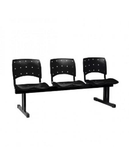 Cadeira Longarina Ergonomica Plastica 3 Lugares Ptreta