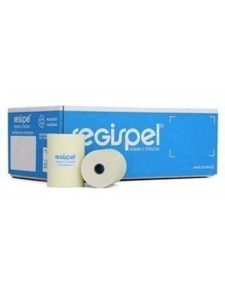 Bobina Para Impressora Fiscal Térmica Regispel Amarela 80mmx30m Caixa Com 30 Bobinas