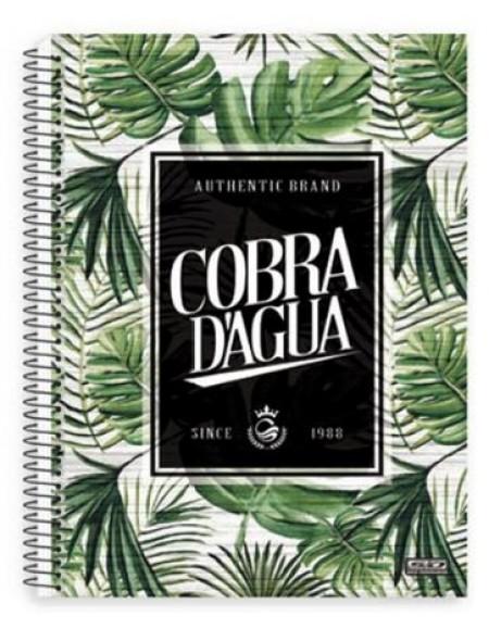 Caderno São Domingos Cobra D'Agua Universitário Arame 15x1 Capa Dura 300fls