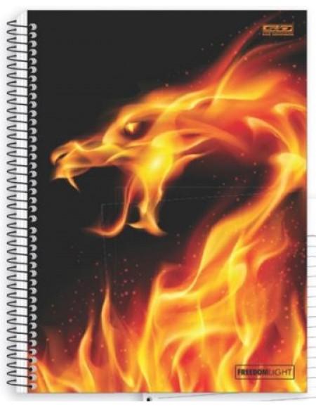 Caderno São Domingos Freedom Light Universitário Arame 15x1 Capa Dura 300fls
