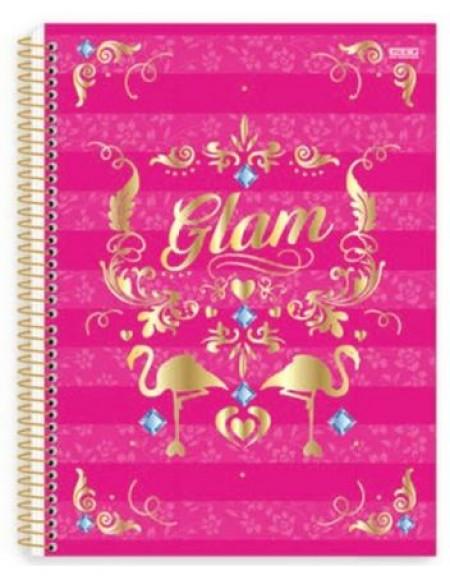 Caderno São Domingos Glam Universitário Arame 10x1 Capa Dura 200fls