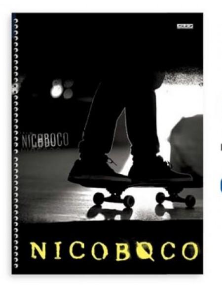 Caderno São Domingos Nicoboco Universitário Arame 10x1 Capa Dura 200fls