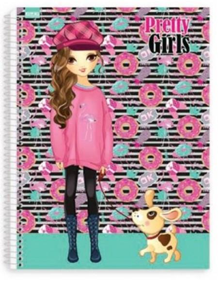 Caderno São Domingos Pretty Girls Universitário Arame 15x1 Capa Dura 300fls
