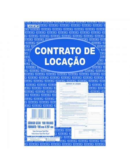 Bloco São Domingos Contrato de Locação 100 Folhas 210MM x 297MM PCT C/5