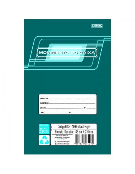 Livro São Domingos Movimento de Caixa Pequeno 1/4 145mm X 210mm PCT C/10