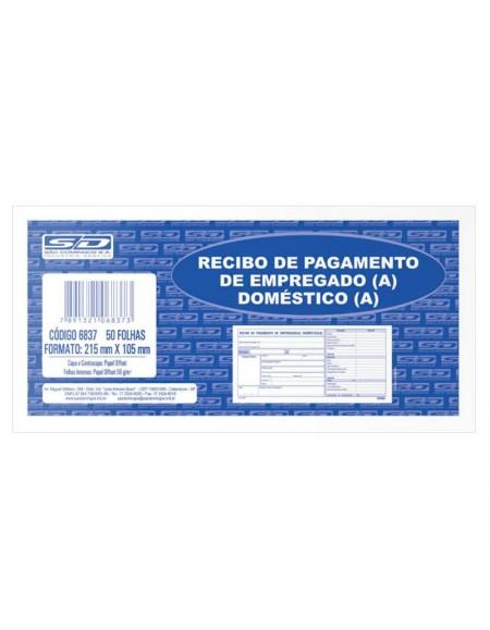 Recibo São Domingos de Pagamento de Empregada(o) Doméstica(o) 215mm X 105mm PCT C/ 20