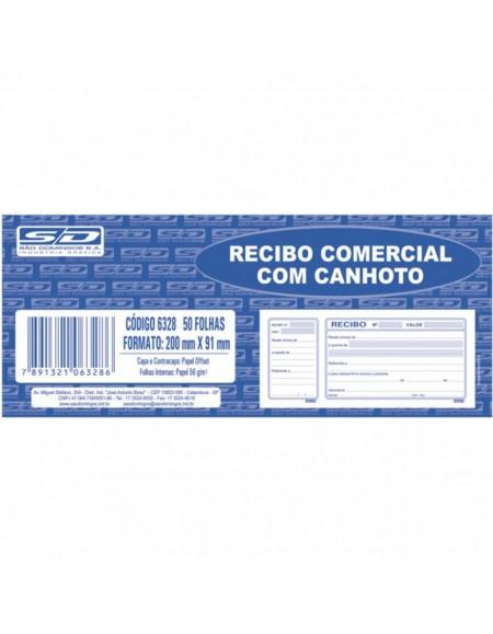 Recibo Comercial São Domingos Com Canhoto 50 fls