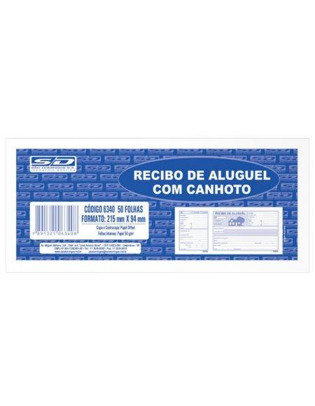 Recibo De Aluguel São Domingos Com Canhoto 50 fls