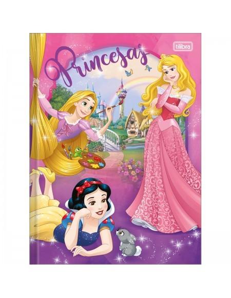 Caderno Tilibra Brochurão Capa Dura 96 Folhas Princesa Disney