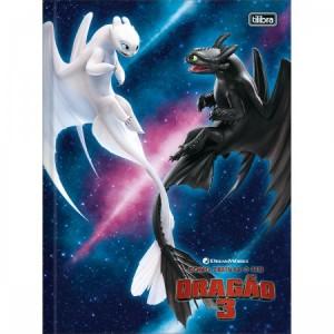 Caderno Tilibra Como Treinar o Seu Dragão 3 Brochura 1x1 Capa Dura 80fls