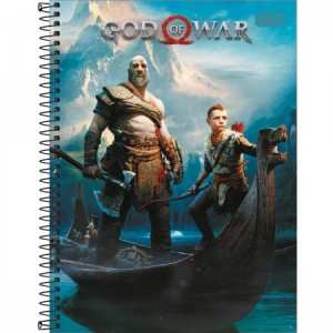 Caderno Tilibra God Of War Universitário Arame 1x1 Capa Dura 96fls