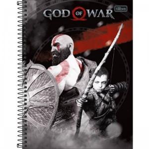 Caderno Tilibra God Of War Universitário Arame 10x1 Capa Dura 200fls