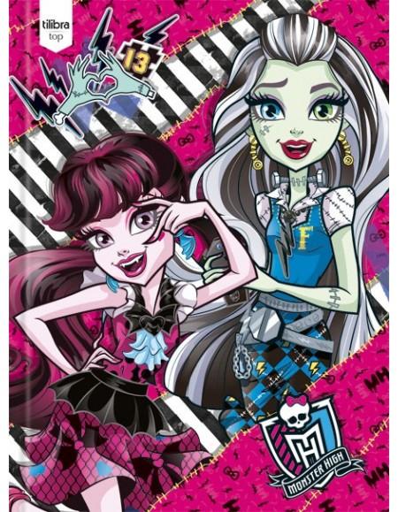Caderno Tilibra Brochurão Capa Dura 96 Folhas Top Monster High