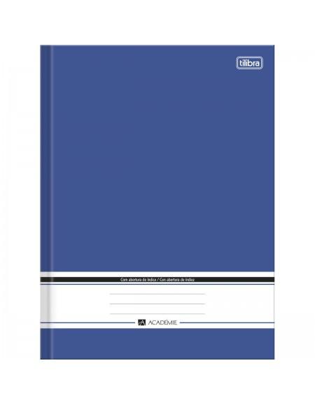 Caderno Brochura Capa Dura com índice Académie Azul 96 Folhas - Tilibra